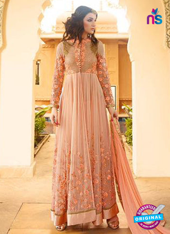 Glossy 7106 Peach Georgette Party Wear Suit