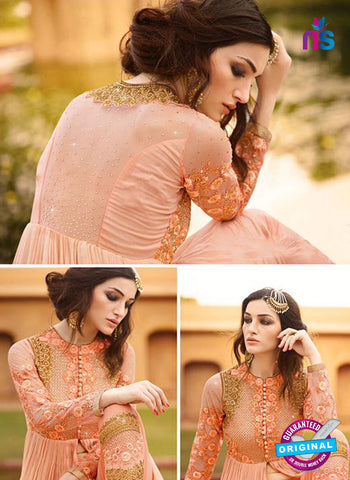 AZ 5113 Peach Georgette Party Wear Suit
