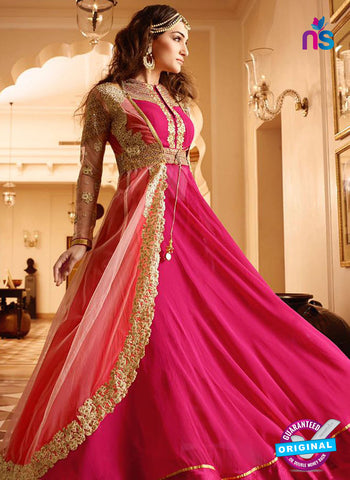 AZ 5114 Pink Georgette Party Wear Suit