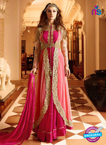 Glossy 7107 Pink Georgette Party Wear Suit