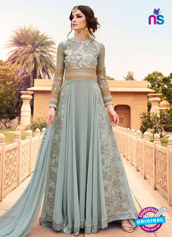 Glossy 7108 Blue Georgette Party Wear Suit