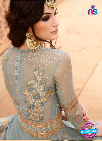 AZ 5115 Blue Georgette Party Wear Suit