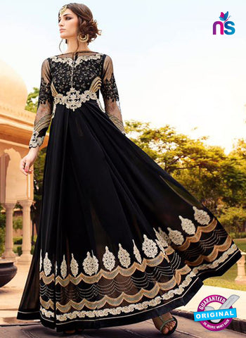 Glossy 7109 Black Georgette Party Wear Suit