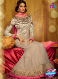 Kimora 710 Brown and Pink Georgette Party Wear Anarkali Suit