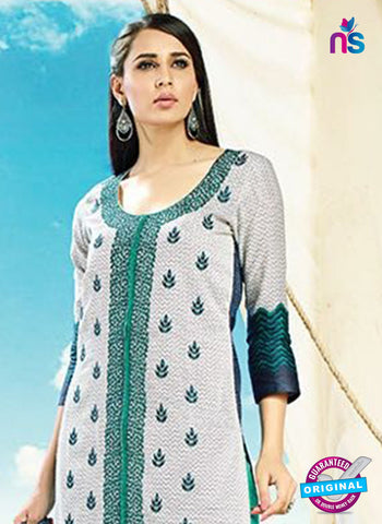 AZ 4085 Grey Cotton Plazo Suit