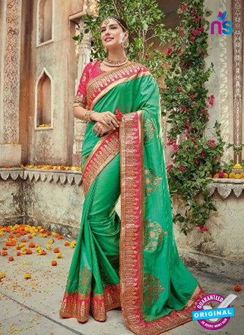 AZ 5005 Green Georgette Wedding Saree