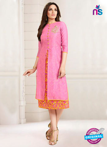 LT 713 Pink Georgette Party Wear Kurti