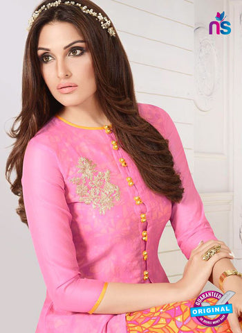 LT 713 Pink Georgette Party Wear Kurti Online