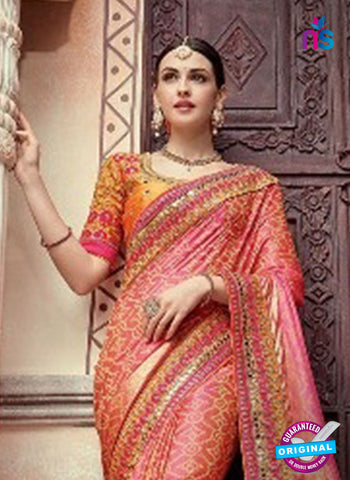 AZ 5010 Pink Georgette Wedding Saree