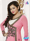 NS11006 Pink and Black Designer Georgette Anarkali Suit