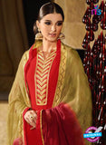Karma 7200 Red Georgette Party Wear Suit