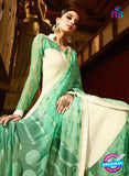 Karma 7201 Beige and Green Georgette Party Wear Suit