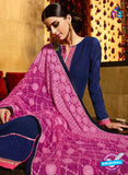 Karma 7202 Blue and Purple Georgette Party Wear Suit Online