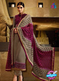 Karma 7204 Beige and Purple Georgette Party Wear Suit