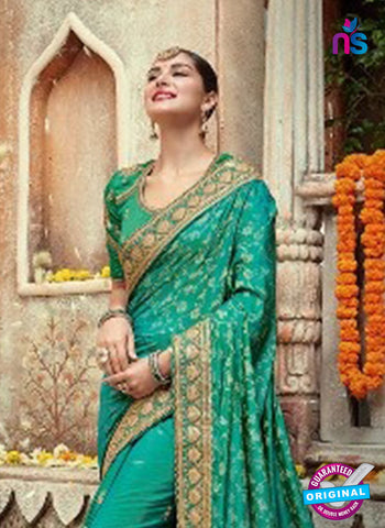 satin sea green georgette wedding saree