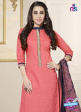 SC 13767 Pink Cotton Fancy Exclusive Function Wear Long Straight Suit Online