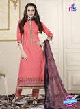 SC 13767 Pink Cotton Fancy Exclusive Function Wear Long Straight Suit