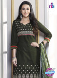 SC 13768 Green Cotton Fancy Exclusive Function Wear Long Straight Suit online