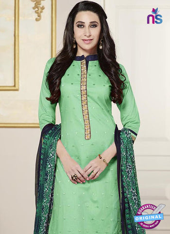 SC 13773 Green Cotton Fancy Exclusive Function Wear Long Straight Suit Online
