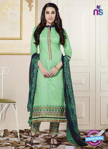 SC 13773 Green Cotton Fancy Exclusive Function Wear Long Straight Suit