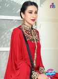 NS10337 Red Party Wear Faux Georgette Desiger Suit
