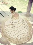 Jinaam Floral 7318 A White Color Georgette Designer Suit