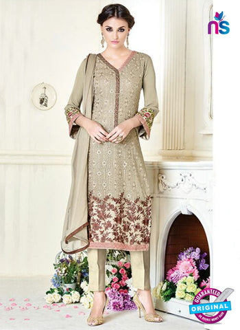 Simaya 737 Beige Party Wear Suit