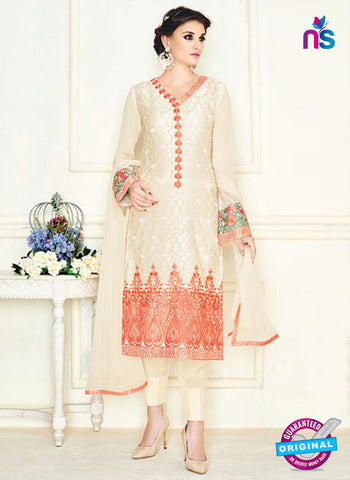 Simaya 738 Beige Party Wear Suit