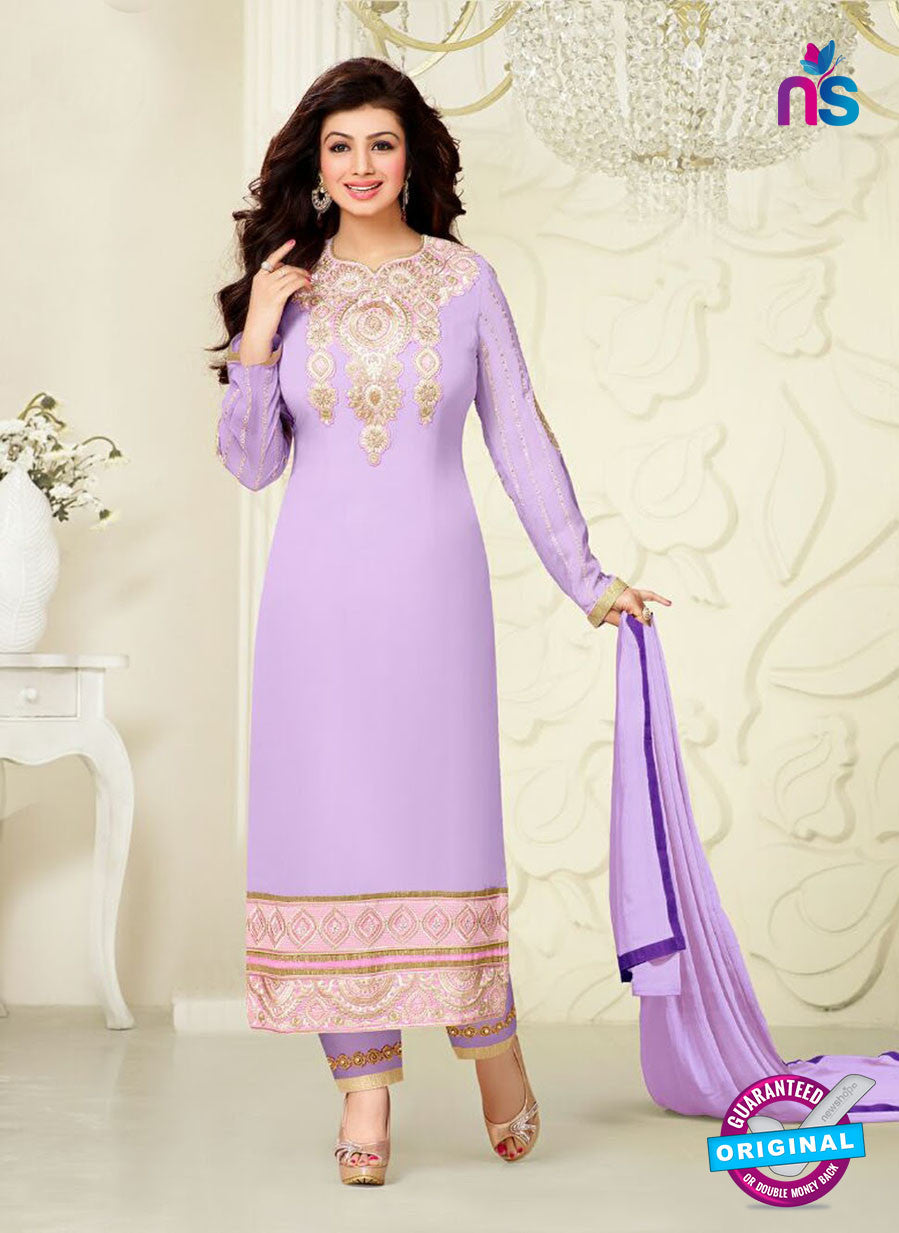 MF 74015 Purple and Pink Party Wear Georgette Long Straight Suit