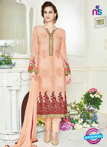 Simaya 741 Peach Party Wear Suit
