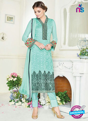 Simaya 742 Sky Blue Party Wear Suit