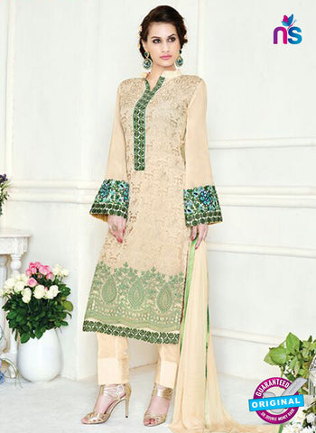 Simaya 744 Beige Party Wear Suit
