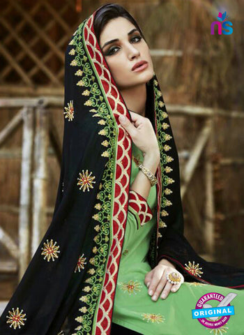 SC 13465 Green and Black Cambric Cotton Designer Fancy Suit Online