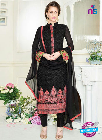 8Simaya 748 Black Party Wear Suit