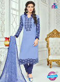 SC 13359 Blue Chanderi Cotton  Designer Long Straight Suit