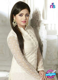 NS11034 White Designer Georgette Plazo Suit