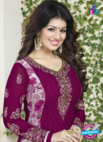 Avon 751 Purple Georgette Party Wear Suit Online