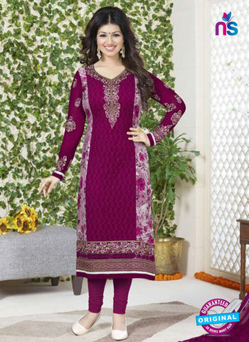 Avon 751 Purple Georgette Party Wear Suit