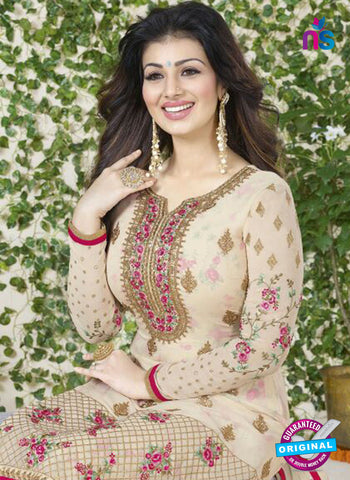 Avon 752 Beige Georgette Party Wear Suit Online