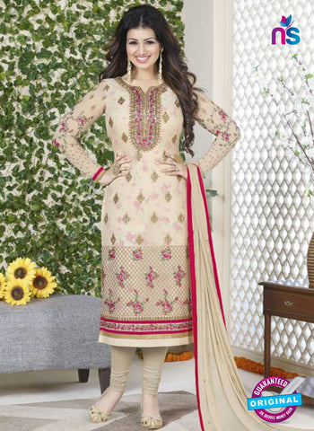 Avon 752 Beige Georgette Party Wear Suit