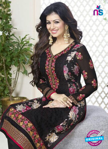 Avon 753 Black Georgette Party Wear Suit Online