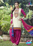 SC 13555 Beige and Pink Designer Fancy Traditional Salwar Patiala Suit