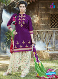SC 13557 Purple and Beige Designer Fancy Traditional  Salwar Patiala Suit