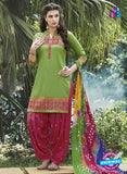 SC 13560 Green and Pink  Designer Fancy Traditional Salwar Patiala Suit