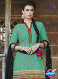 SC 13561 Sea Green and Black  Designer Fancy Traditional Salwar Patiala Suit