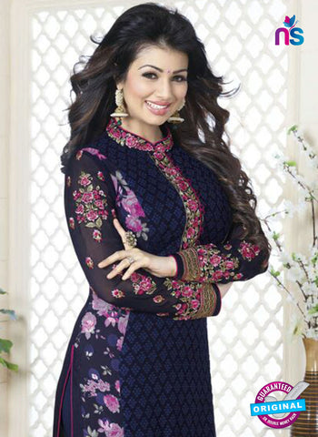 Avon 755 Blue Georgette Party Wear Suit Online