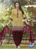 SC 13562 Beige and Maroon Designer Fancy Traditional Salwar Patiala Suit