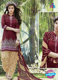 SC 13563 Maroon and Beige Designer Fancy Traditional Salwar Patiala Suit