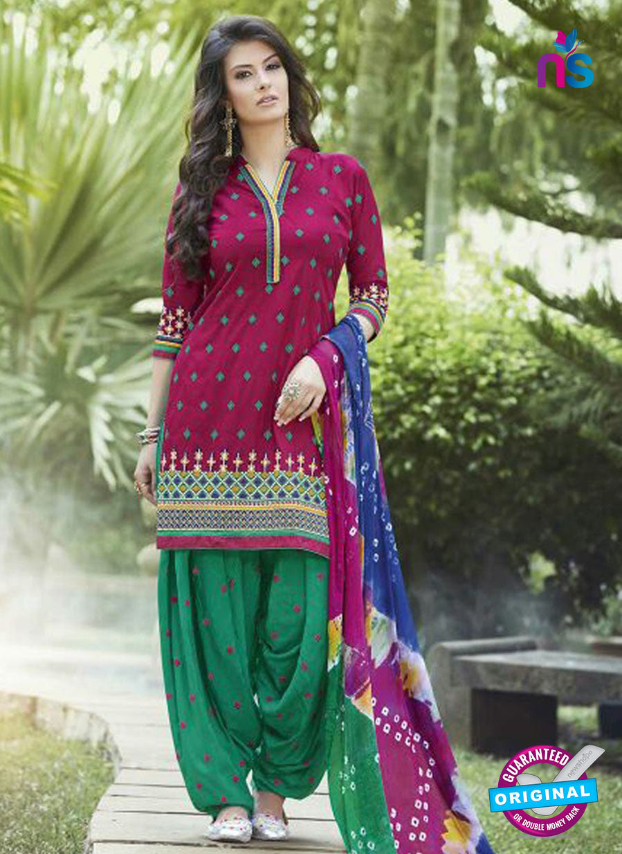 SC 13564 Magenta and Green Designer Fancy Traditional Salwar Patiala Suit