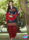 SC 13566 Blue and Red Designer Fancy Traditional Salwar Patiala Suit